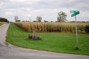 This is a road that still follows the route of the Quaker Trace.