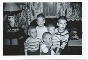 Mark, Tim, Dave, Don, & Jerry Stevens taken in the 1950s in Indiana.