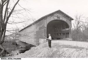Wright Covered Bridge, one mile SW of Farmland Indiana