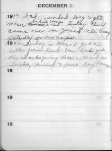 Diary Dec 1