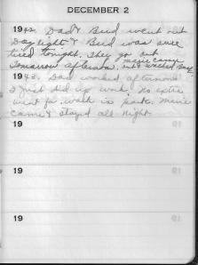 Diary Dec 2