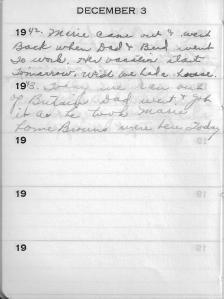 Diary Dec 3