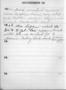 Diary Nov 19