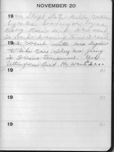 Diary Nov 20
