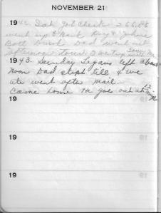 Diary Nov 21