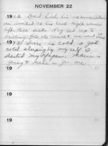 Diary Nov 22