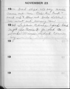 Diary Nov 23