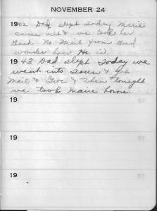 Diary Nov 24