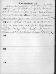 Diary Nov 26