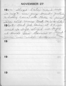 Diary Nov 27