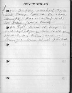 Diary Nov 28