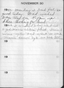Diary Nov 30