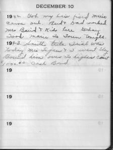 Diary Dec 10