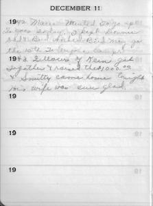 Diary Dec 11
