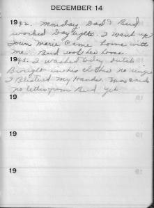 Diary Dec 14