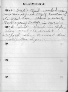 Diary Dec 4
