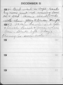 Diary Dec 5