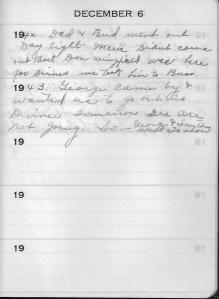 Diary Dec 6