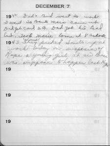 Diary Dec 7