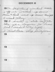 Diary Dec 8