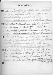 Diary Jan 1