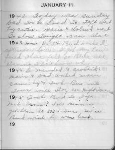 Diary Jan 11