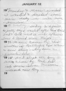 Diary Jan 12