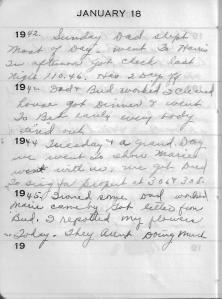 Diary Jan 18