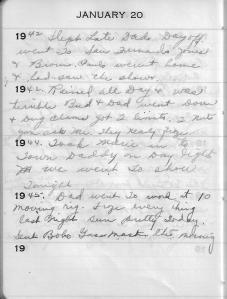 Diary Jan 20