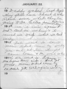 Diary Jan 22