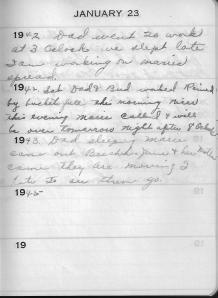Diary Jan 23