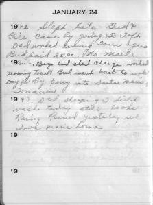 Diary Jan 24