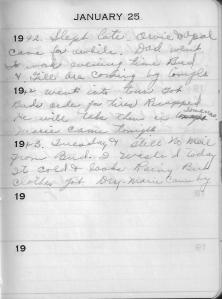 Diary Jan 25