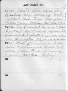 Diary Jan 26