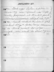 Diary Jan 27