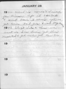 Diary Jan 28