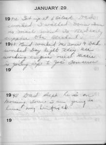 Diary Jan 29