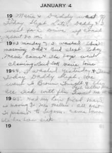 Diary Jan 4