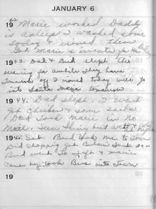 Diary Jan 6