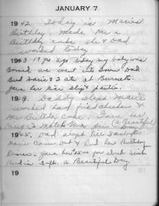 Diary Jan 7