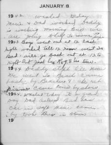Diary Jan 8