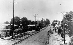 This is the only picture I found of Newhall, California. It was taken in 1919.