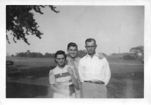 This is Georgia Mary Coakley with her son Henry Burl Stevens Jr. and husband Henry Burl Stevens Sr.