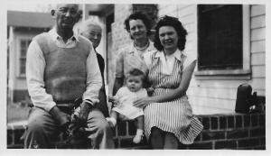 Cary Stevens with Gertrude, their daughter Joanna, my mother Sylvia Marie Tennant Stevens and sister, Barbara Marie Stevens.